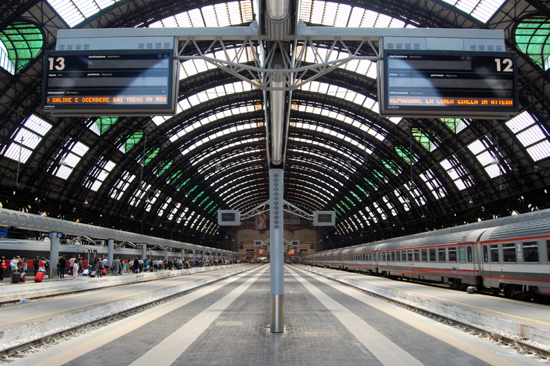 Central train station in Milan