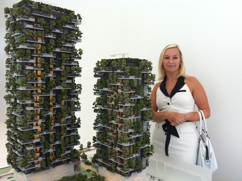 Vertical garden at Isola in Milan